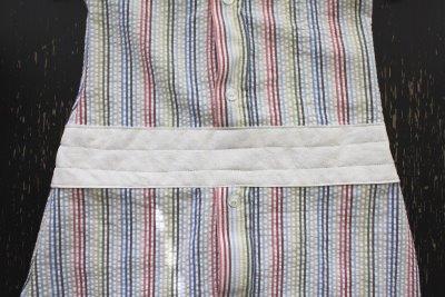شكل الحزام بعد الخياطة