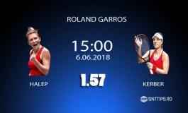Ponturi tenis - Halep - Kerber - Roland Garros - 06.06.2018