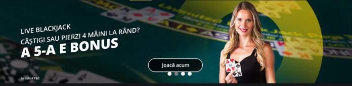 Blackjack-ul si ruleta live