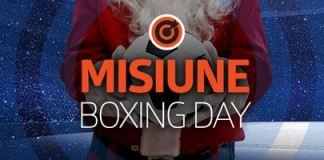 Cashback 50% la pariuri de Boxing Day