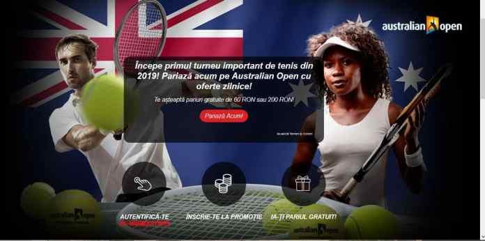 Pariuri gratuite pentru Australian Open 2019
