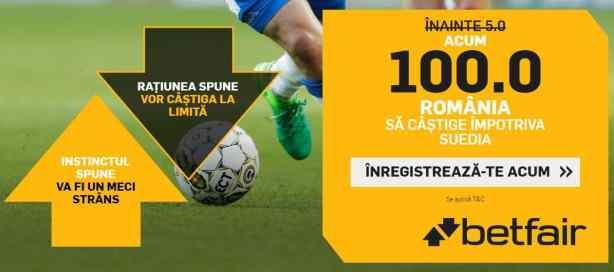 Ponturi fotbal Suedia vs Romania