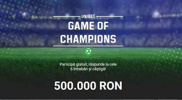 Promotii pariuri Liga Campionilor: 500.000 RON
