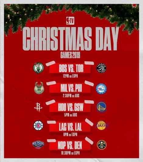 Ponturi NBA Christmas Games