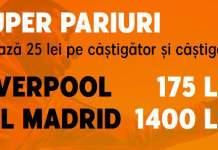 Cote marite Liverpool 7.00 vs Atletico 56.00, UCL