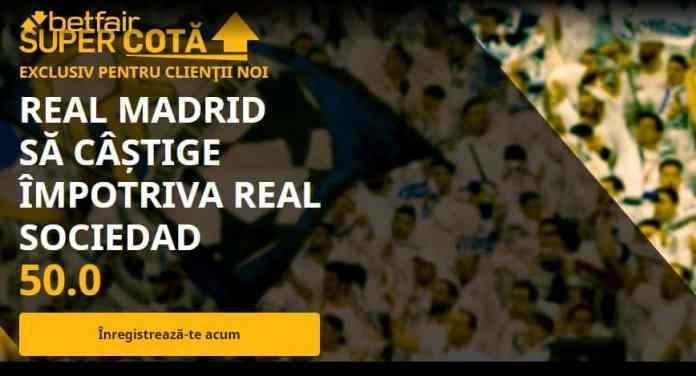 Cota 50.00 pentru Real Madrid