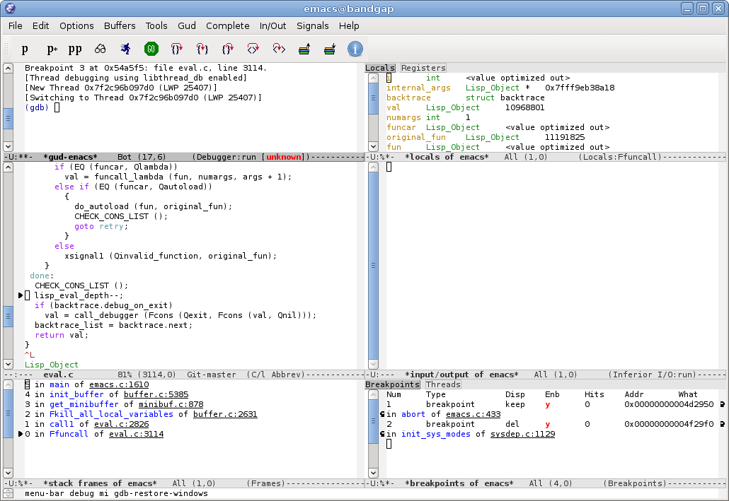 emacs screenshot