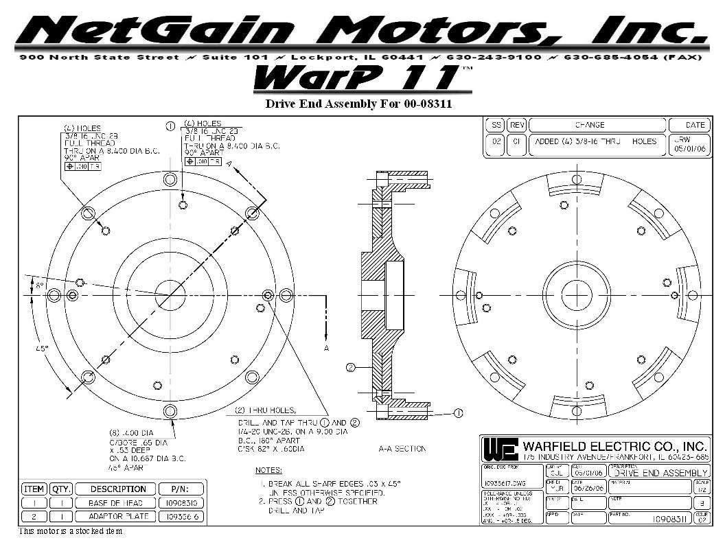 Warp 9 Motor Thrust Force