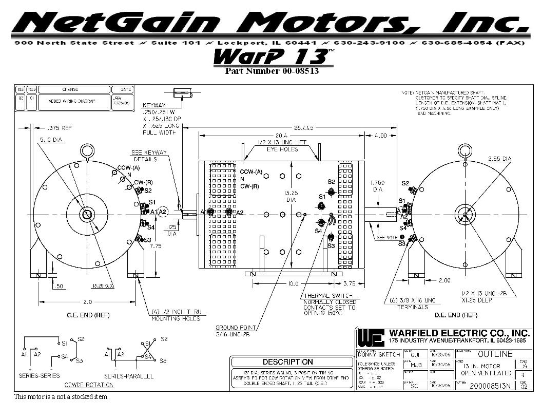 Warp Motor Information