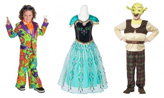 jaren 60 pakje kleding Shrek en Frozen carnaval