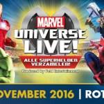Al je Marvel superhelden live te zien bij Marvel Universe LIVE!