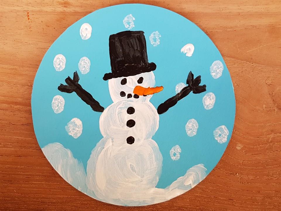 winters schilderijtje knutselen-