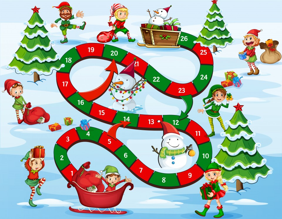 Beroemd Kerst spelletjes voor kinderen en volwassenen - Go or No Go #YN74