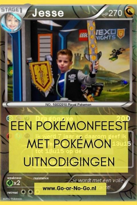 Een Pokémonfeest met Pokémon uitnodigingen