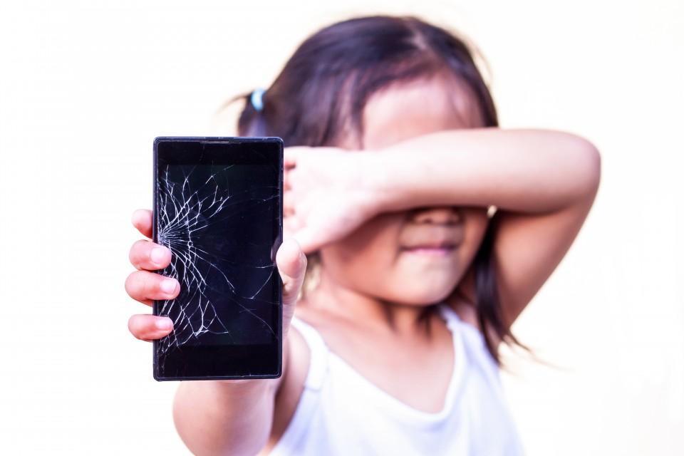 Kapotte telefoon ongeluk