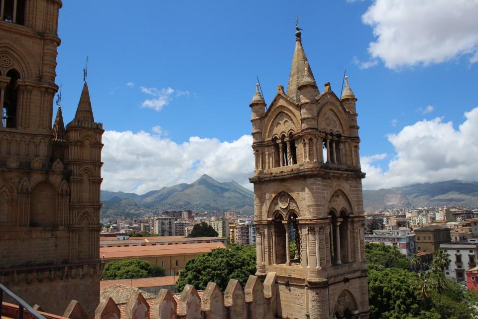 uitzicht kathedraal palermo sicilië