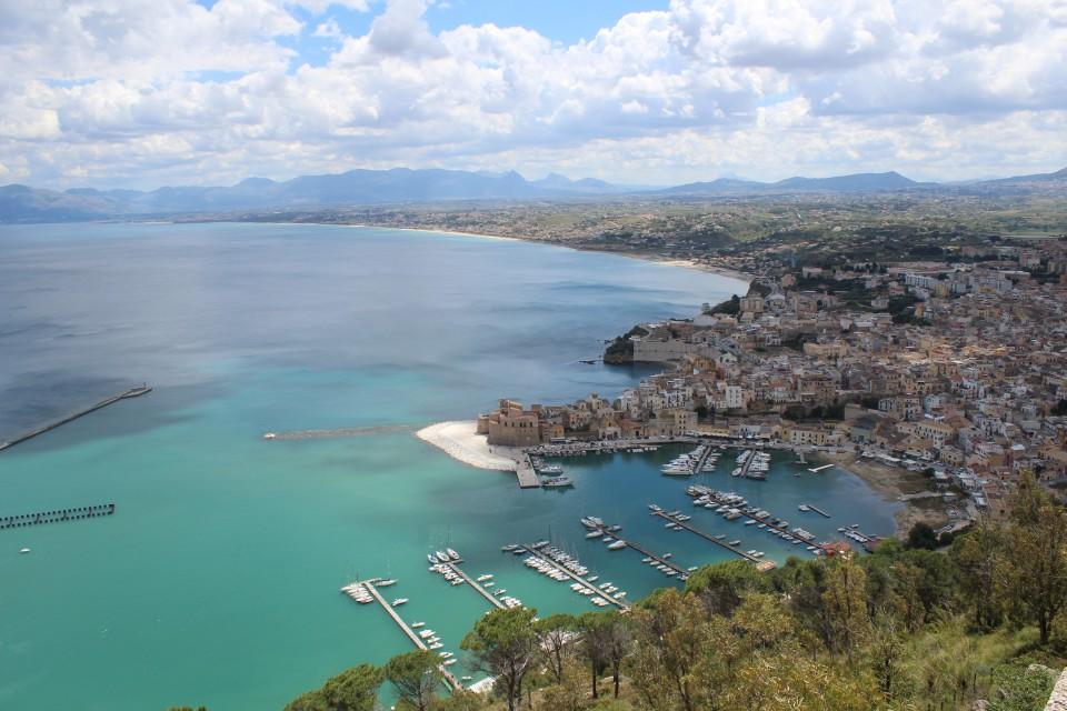 Scopello zee uitzicht italie
