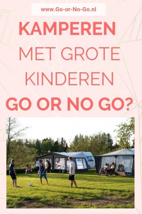 Kamperen met grote kinderen in een tent - doen of niet?