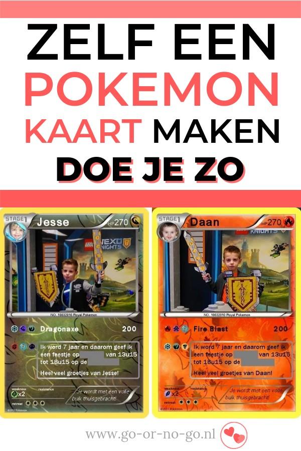 Pokémonkaarten zelf maken