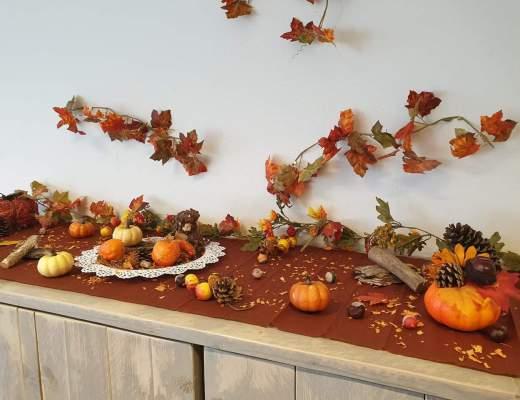 herfsttafel maken bso kdv