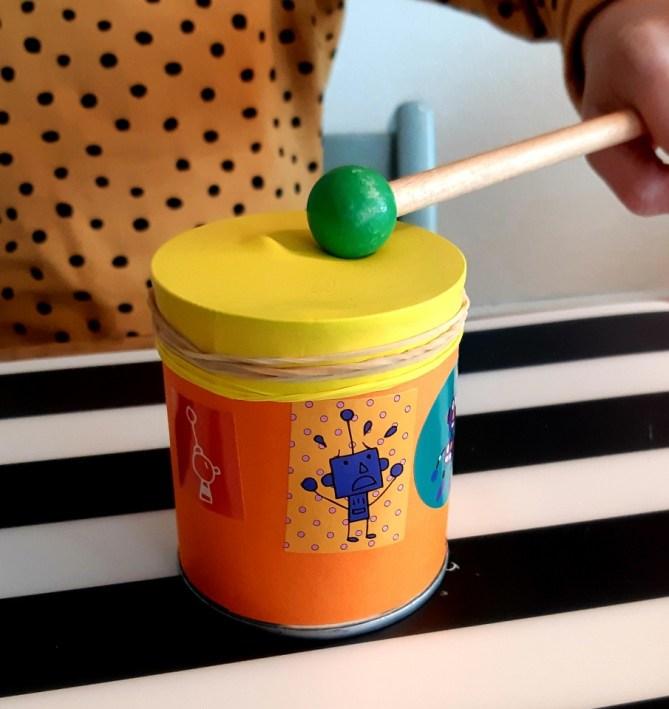 zelf trommel maken voor kinderen