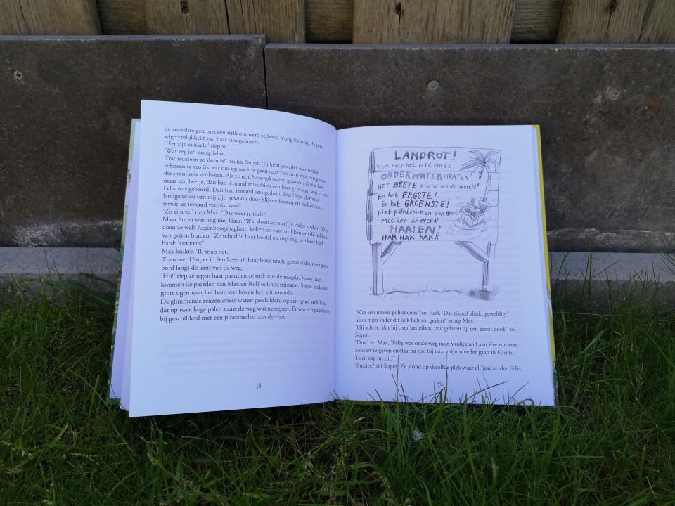 Jippie! En de onderwater-piraten is geschreven door Sanne Rooseboom met de illustraties van Annet Schaap. .