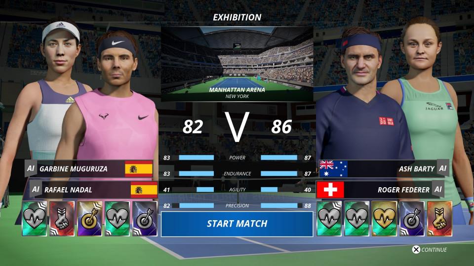dubbel tennis game