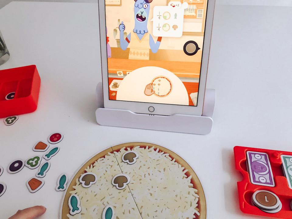 rekenspel op de ipad pizza