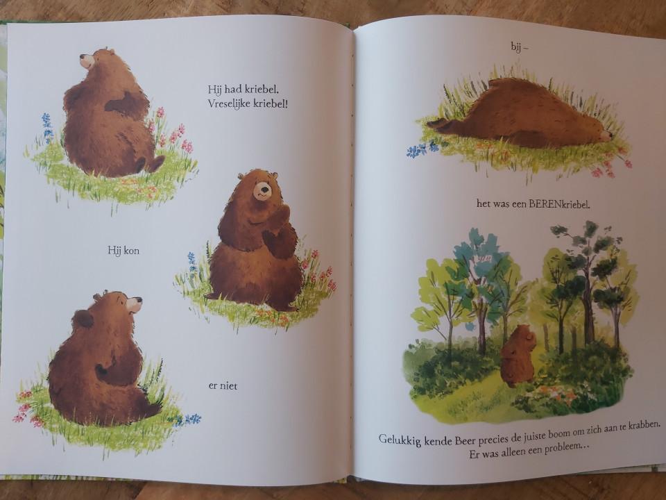 Berenkriebel is een boek over twee dieren die elkaar helpen. Maar bovenal is dit een boek over twee dieren die elkaar vinden en vrienden worden. Waarschijnlijk vrienden voor het leven.