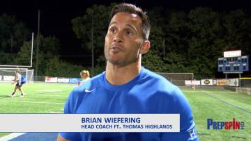 Highlands Head Coach Brian Wiefering after Defeating Sacred Heart 1-0