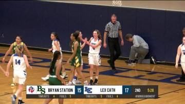Lex Cath Girls BB Highlights vs Bryan Station