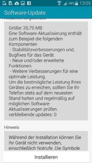 Samsung Galaxy Note 4 Update