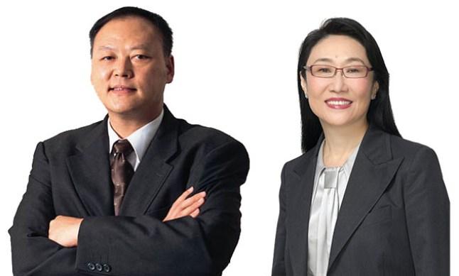 Peter Chou und Cher Wang