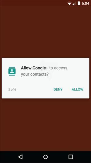 Android M Berechtigungsmanager
