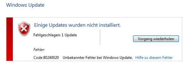 Windows 10 Update-Fehler
