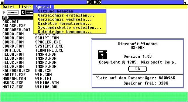 So sah das erste Windows aus