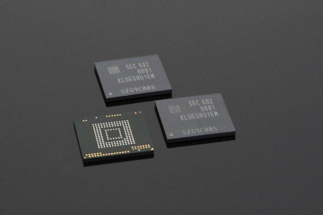 Samsung UFS 2.0 Flash-Speicher mit 256 GB Kapazität