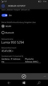 Windows 10 Mobile WLAN-Hotspot