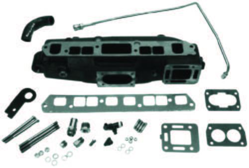 mercruiser 3 0 exhaust manifold kit 3 0l 3 0lx 1990 newer