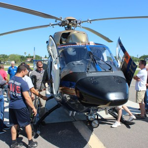 Local air medical helicopter(s) on display for students to see and interact with crew members during the course.
