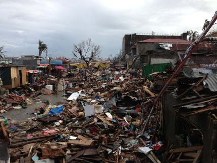 Typhoon Haiyan Destroyed Neighborhood in Tacloban