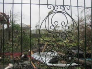 Outside of Joel's House after the Typhoon