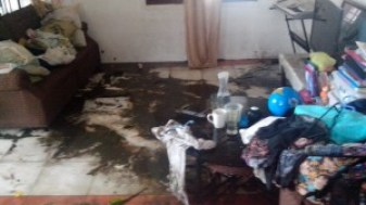 Joel's Living Room after the Typhoon