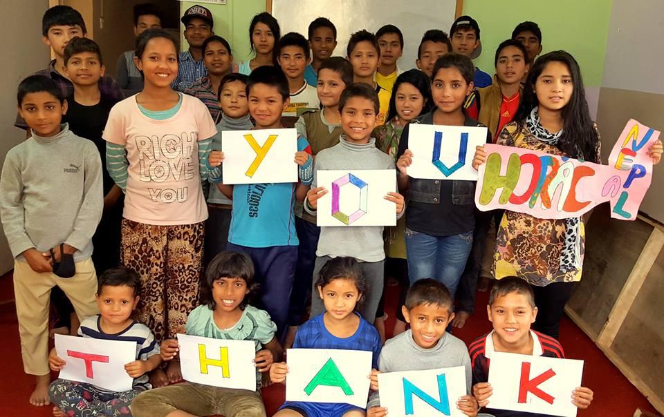 Orphaned children in Nepal