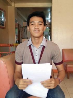 James Ronald Castil, Volunteer for the Visayans College Scholar