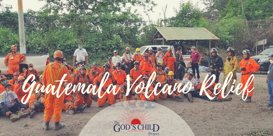 volcano relief workers in guatemala