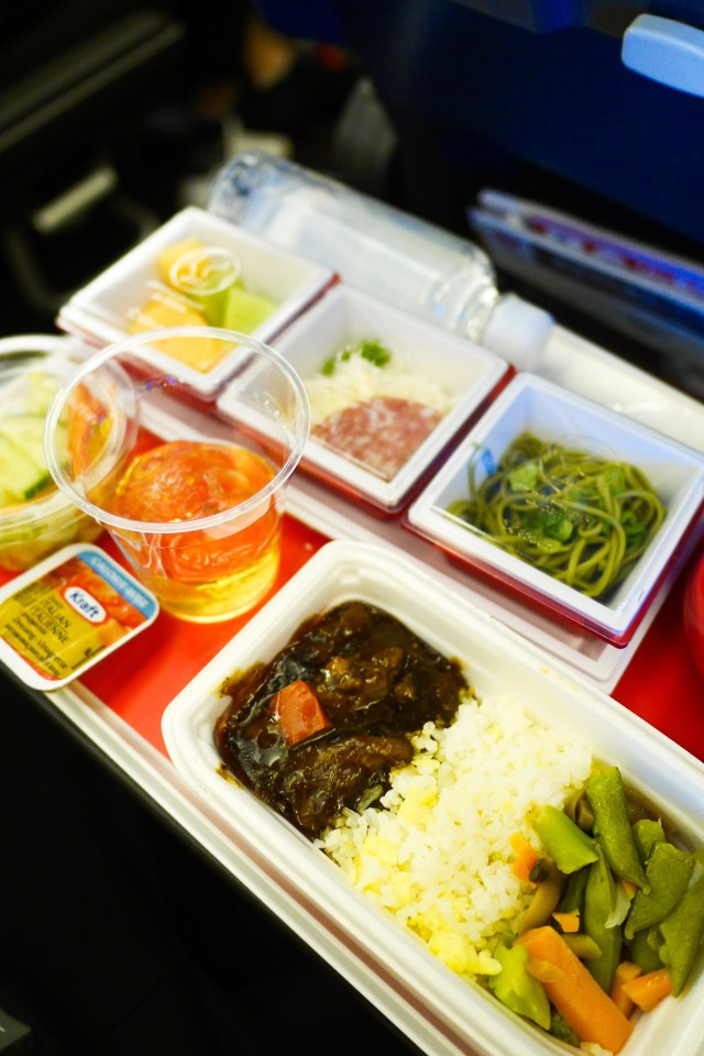 JAL Black Bean Chicken with Egg Fried Rice
