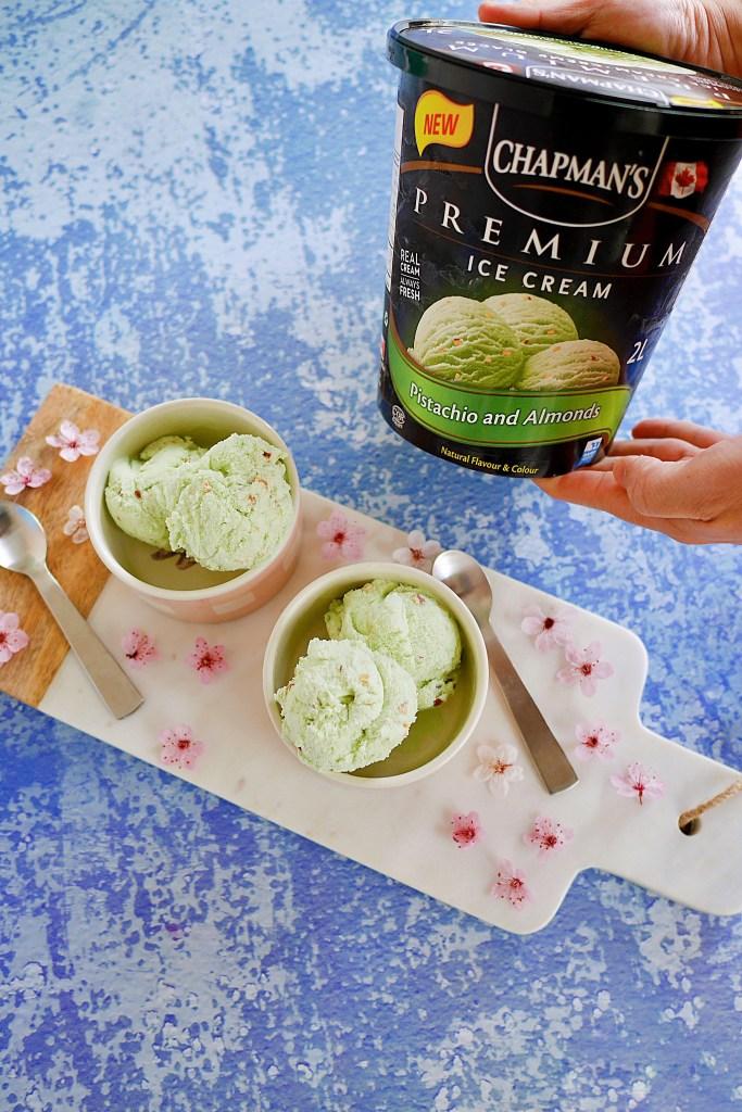 Chapman's Ice Cream pistachio almonds