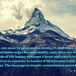 High Eagle - Commitment precedes Vision Visionary Dreamer