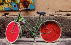 watermelon wheels bike pic